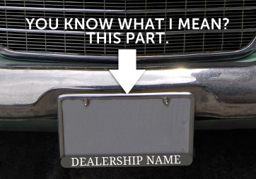 License Plate Frame Advertising