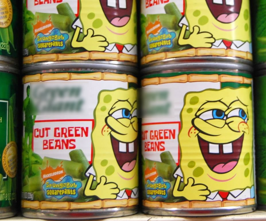Cans of beans marketed to kids