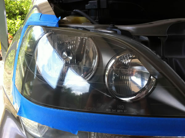 After polishing your headlights, they should look nice and shiny.