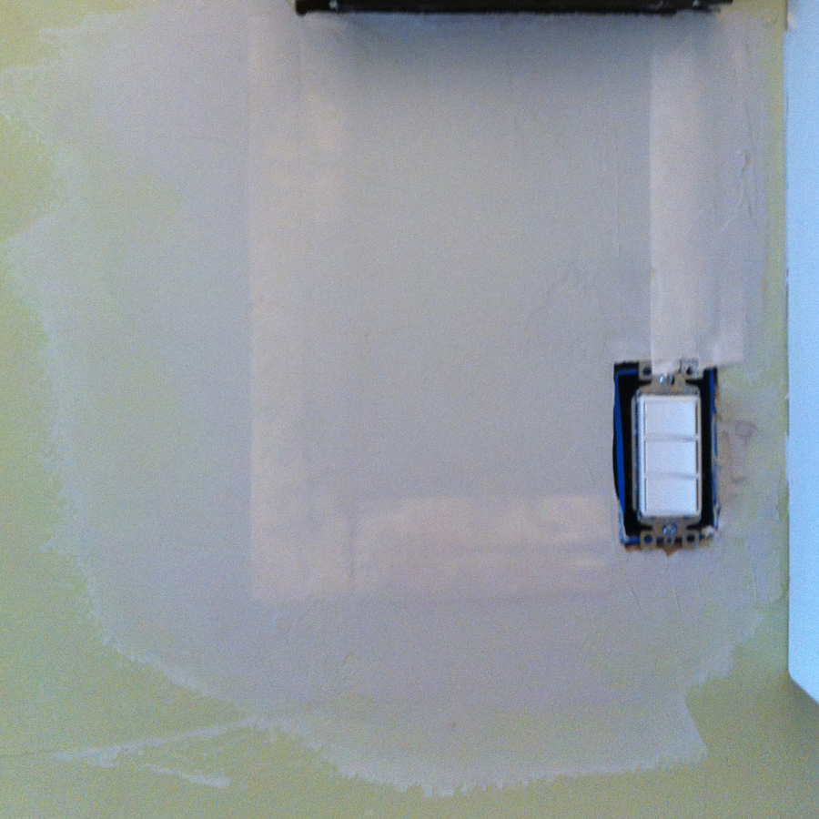 How to Sand a drywall patch with a wet sponge to prevent dust