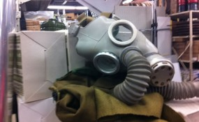 Need a gas mask? They had child and adult sizes.