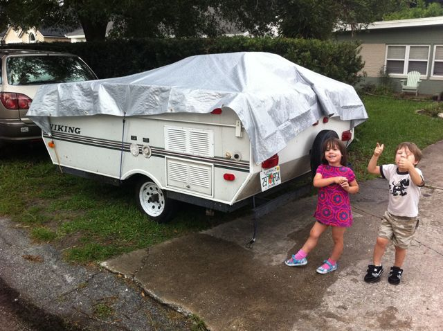 Dad blog rebuilds the roof on a 2000 viking popup camper