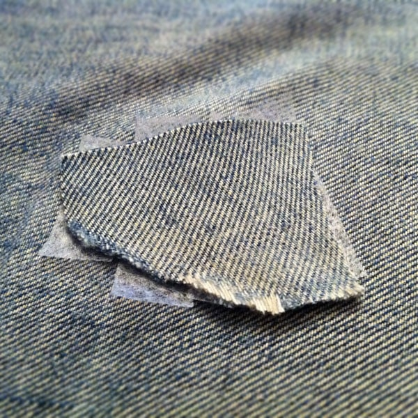 Denim patch and Stitch Witchery