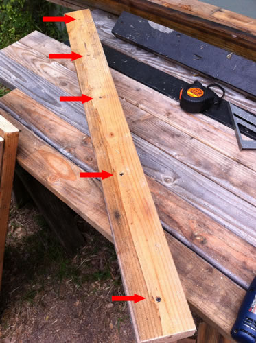 "Use some 3"" screws to build your sawhorse."