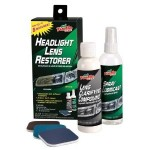 Polish Headlights with headlight lens restorer kit from Turtle Wax