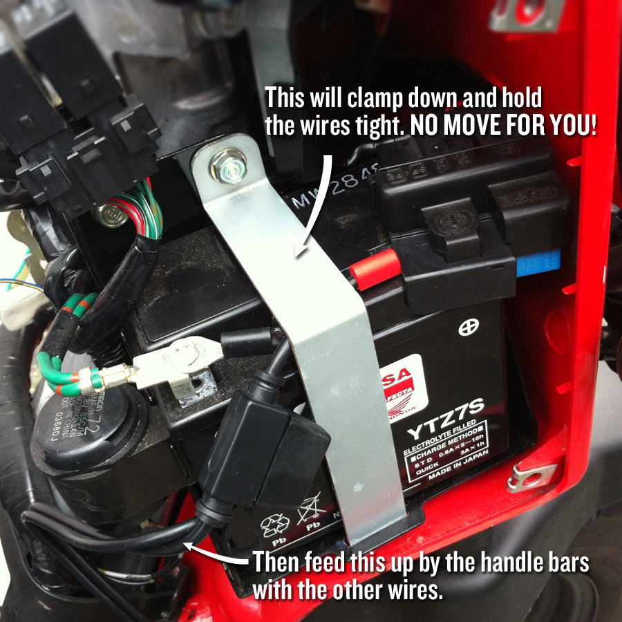 Connecting A Battery Tender To A Honda Ruckus Dadand Com