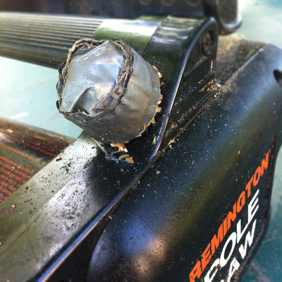 Broken oil cap on Remington Pole Saw