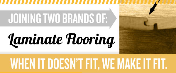 Joining Two Different Brands Of Laminate Flooring Dadand