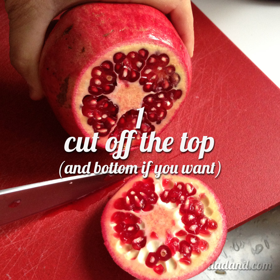 How to open a pomegranate, How to cut up a pomegranate, How to eat a pomegranate.