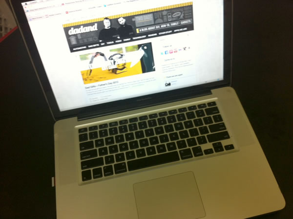 My trusty MacBook Pro.