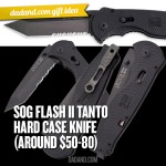 Dad Gift Idea - SOG Flash II Tanto Folding Knife