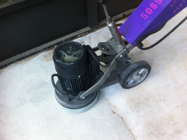 This is the concrete grinder I rented.