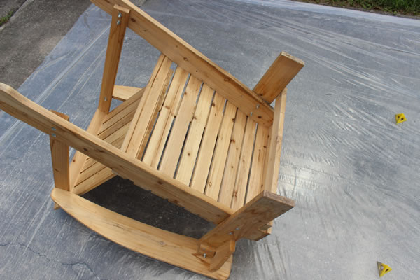 But I just figured it would be easier to flip the chair over, paint the bottom, then flip it upright.