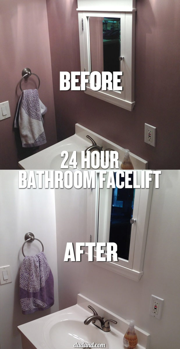 24-hour bathroom facelift