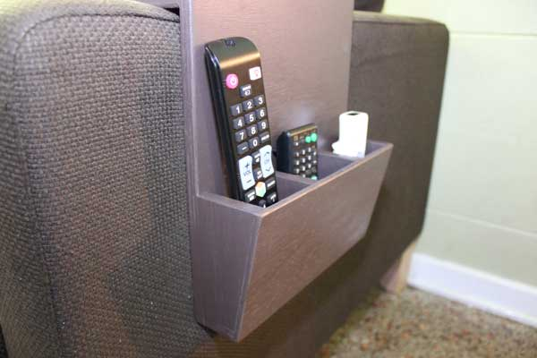 DIY Couch Cup Holder And Remote Caddy