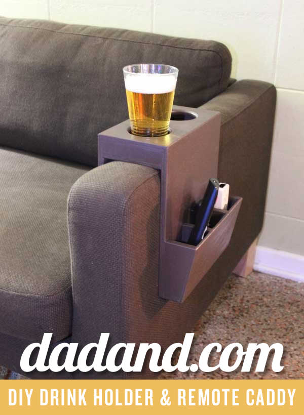 Diy Couch Cup Holder And Remote Caddy Dadandcom