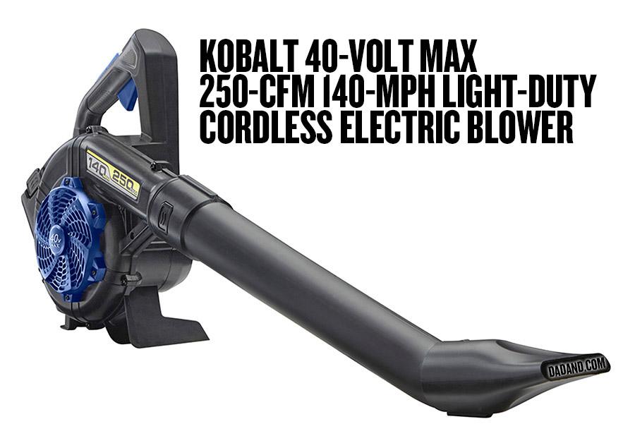 Kobalt 40-Volt Max 250-CFM 140-MPH Light-Duty Cordless Electric Blower