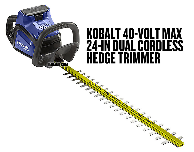 Kobalt 40-Volt Max 24-in Dual Cordless Hedge Trimmer