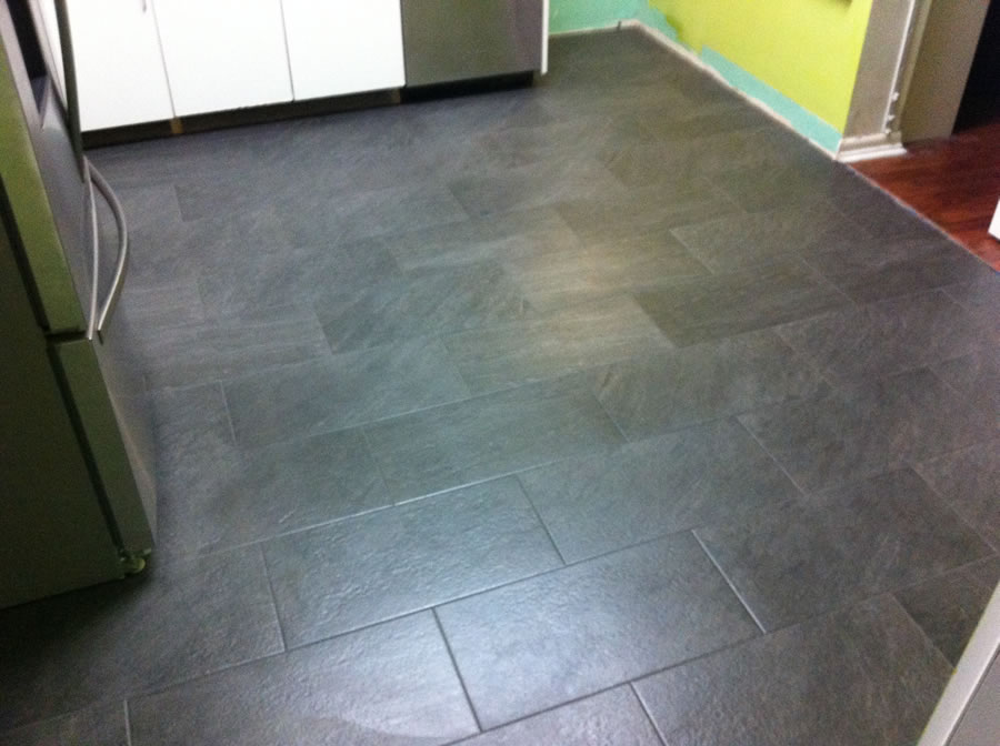 I Retiled My Kitchen Dadandcom Dadandcom - What do you need for tile floor