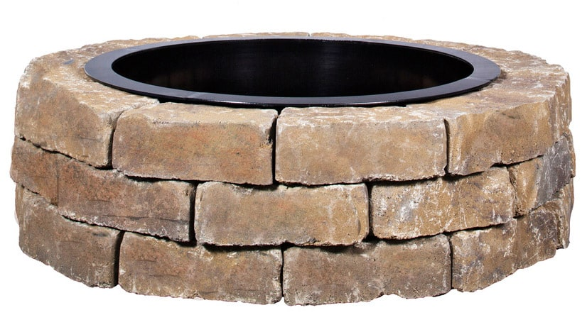 Enter The $169 Allen + Roth Ashland Flagstone Fire Pit Patio Block Project  Kit. (Loweu0027s Item #: 477106).