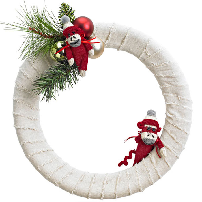 lowes diymonkey wrapped wreath - Lowes Christmas Wreaths