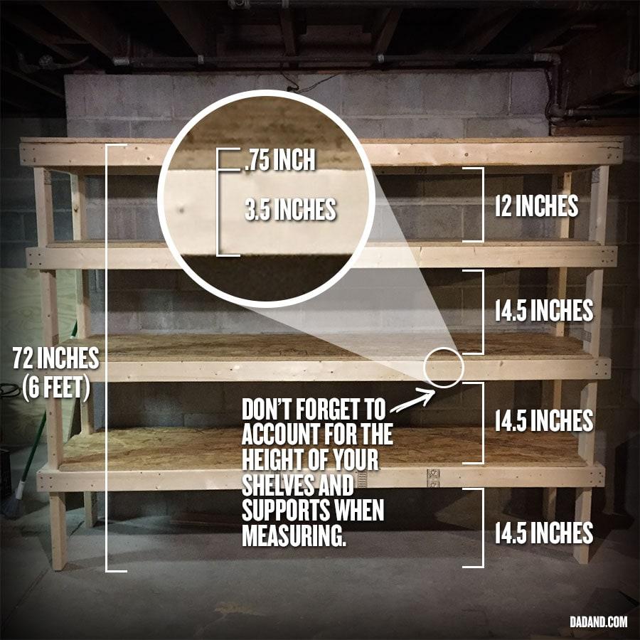 diy 2x4 shelving for garage or basement | dadand - dadand
