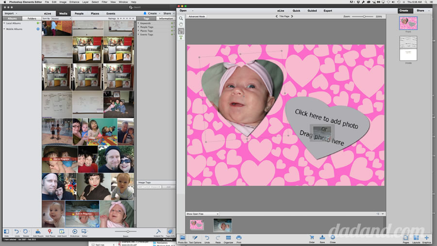 making cards with shutterfly