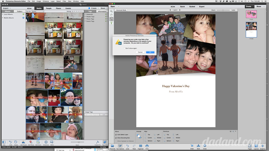 photoshop elements make a greeting card