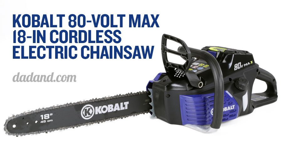 Kobalt 80v max cordless electric outdoor power equipment dadand i absolutely loved the 40v max 12 inch version of the chainsaw so i imagine the 18 inch version will be even better we used it all last year cutting down greentooth Images