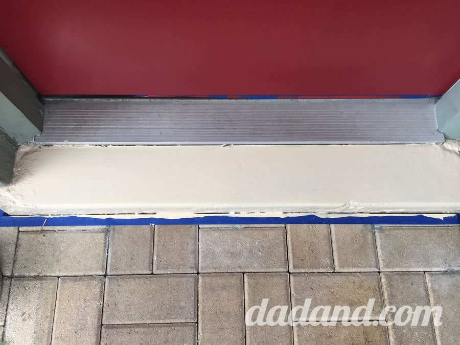 The floor paint did really great covering the worn-through spots that were formerly black.