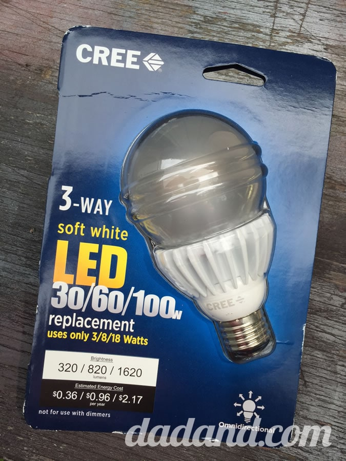 Dad blogger upgrades lamp with LED bulb Review