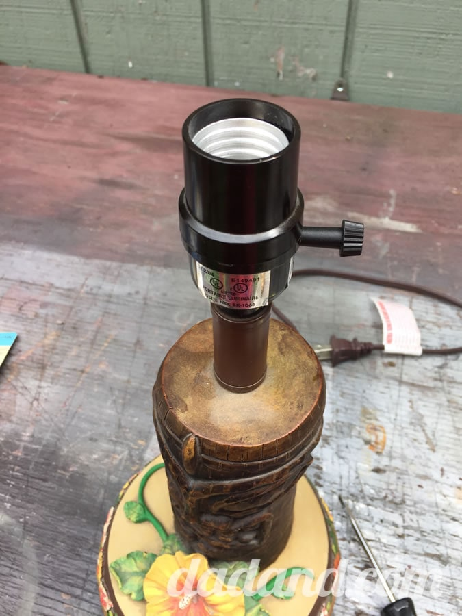 And screwed the top of the housing back on.