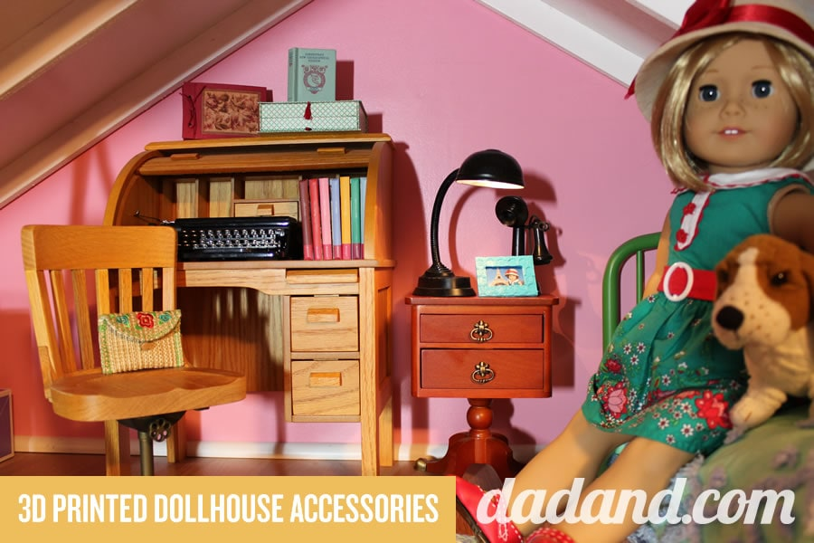 DIY Dollhouse accessories American Girl 3D printed