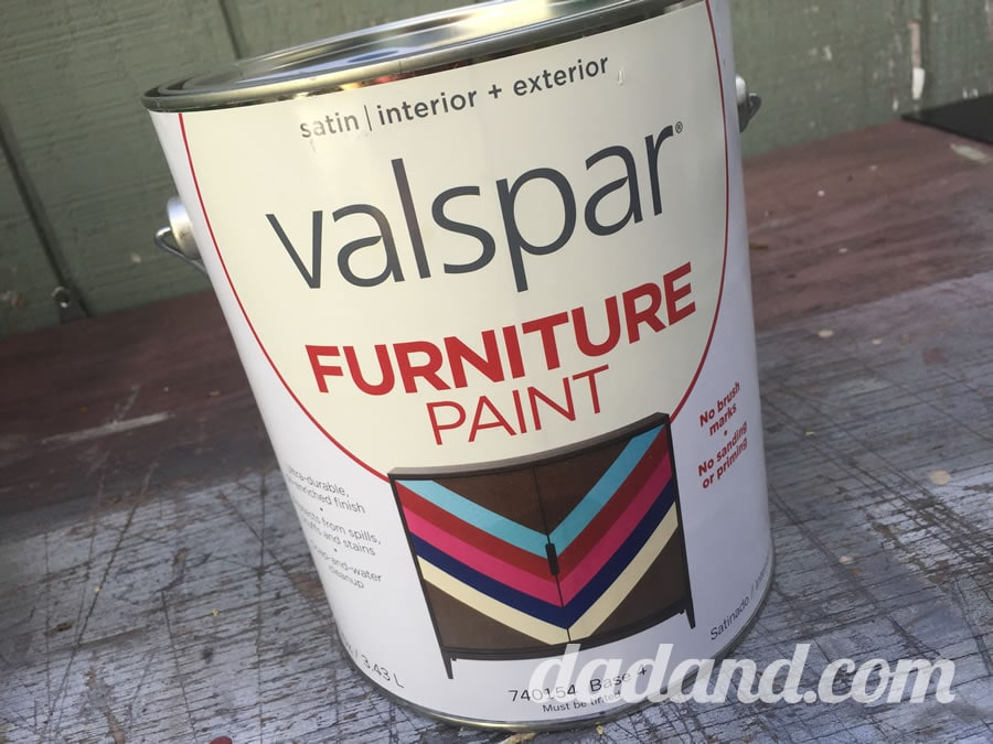 DIY dr. Who tardis chair with valspar furniture paint