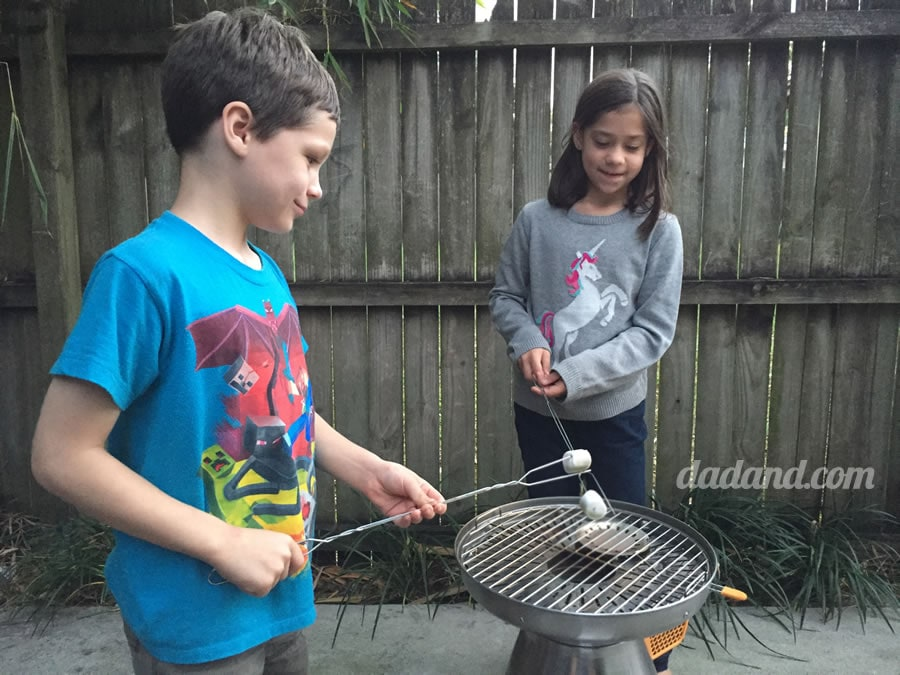 While I wasn't prepared to cook a full-on meal, the twins got some marshmallow roasting done on the BaseCamp.