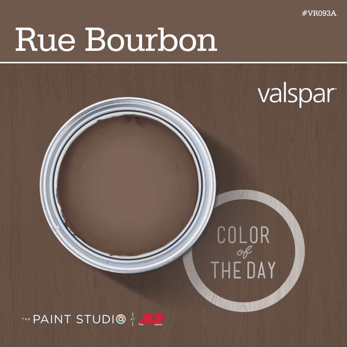 I chose Rue Bourbon (link to http://m.valsparpaint.com/color-detail.php?id=70460&g=70013)—a rich brown that coordinated with the sofa in my living room and complemented the green walls adjacent to the planter.