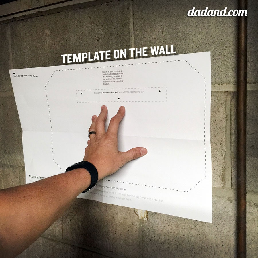 PureWash Pro wall installation template
