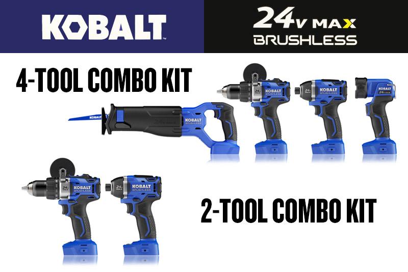 Kobalt 24v MAX Brushless Combo Kits