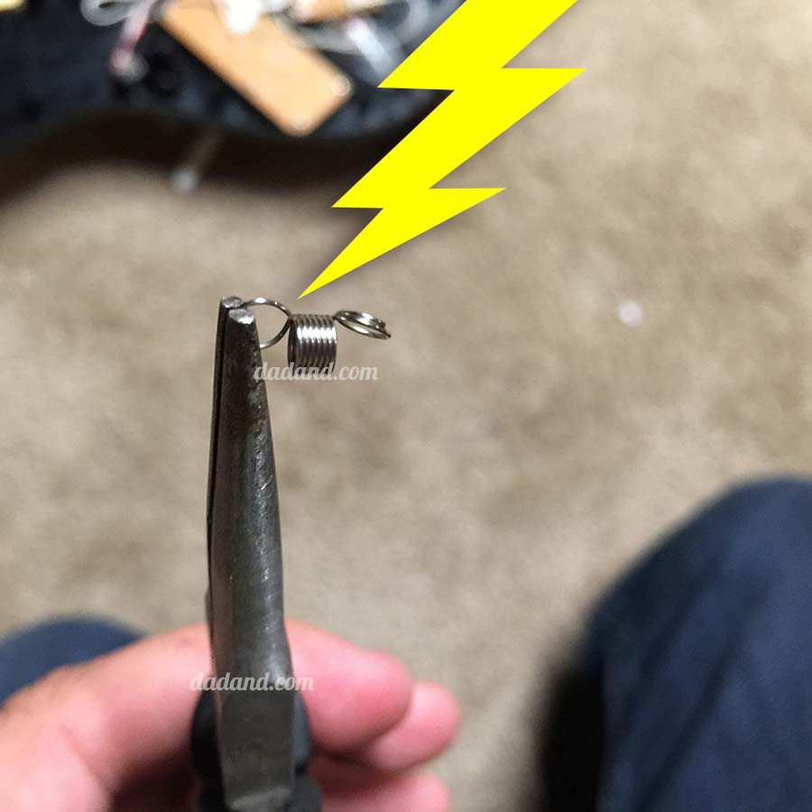 Broken Rock Band Guitar Whammy Bar Fix - Repaired Spring
