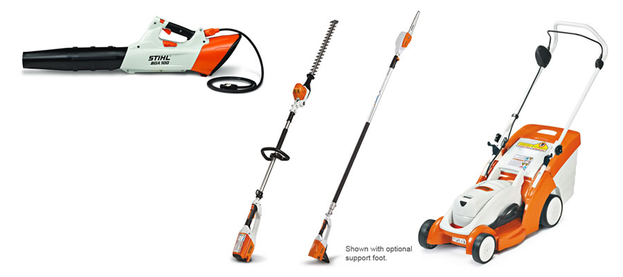 Some of the offerings in the Stihl AP Lightning Battery System.