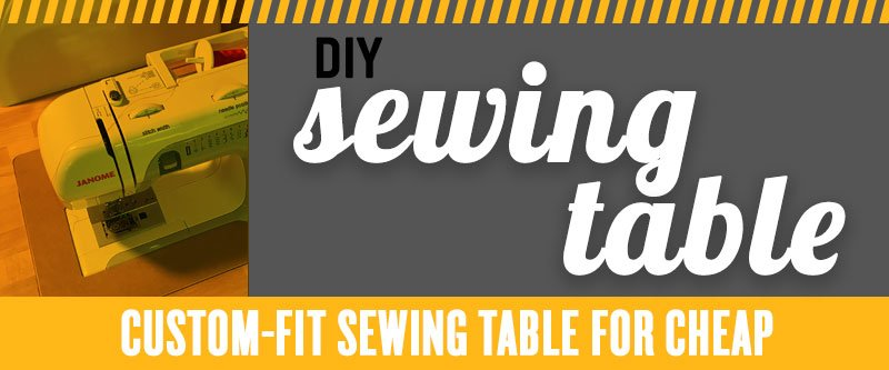 DIY sewing machine table for quilting
