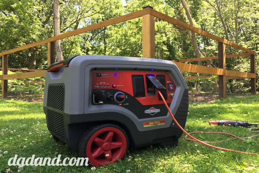 The Briggs & Stratton Q6500 QuietPower™ Series Inverter Generator review by DIY dad blog.