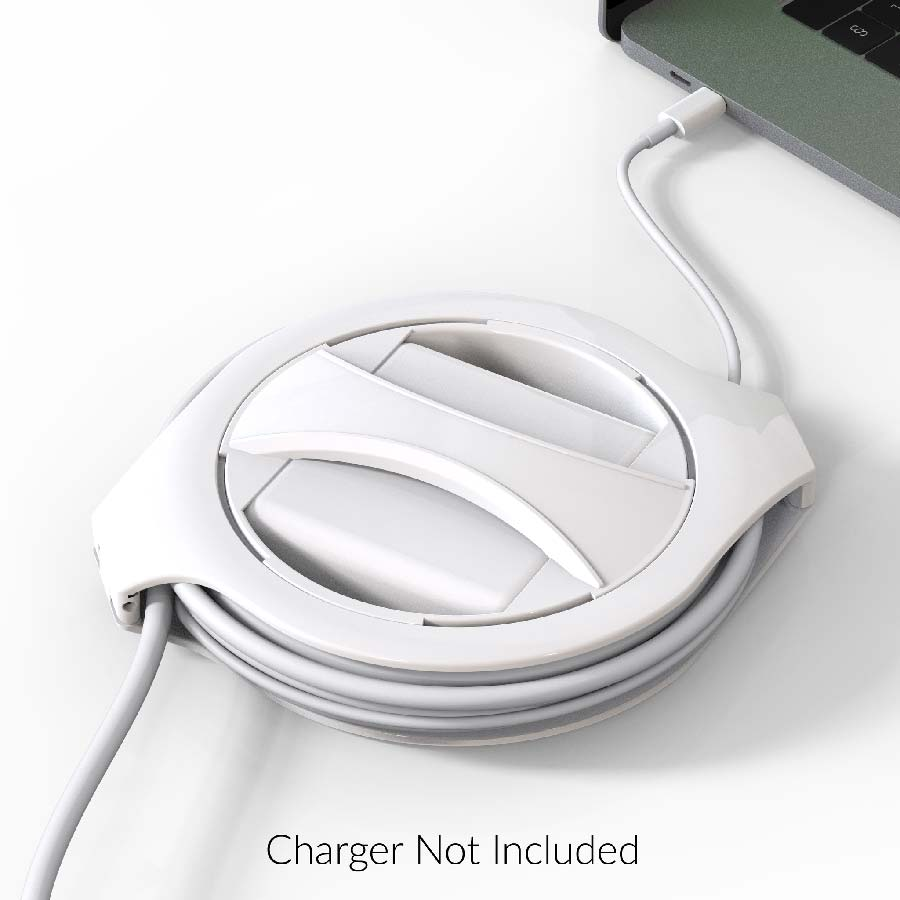 Fuse Reel Side Winder MacBook charger cable holder